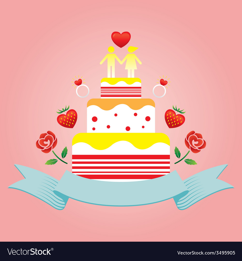 Human symbol lover on top of cake vector | Price: 1 Credit (USD $1)