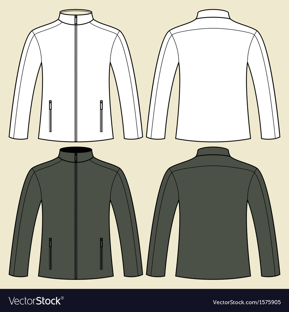 Jacket template - front and back vector | Price: 1 Credit (USD $1)