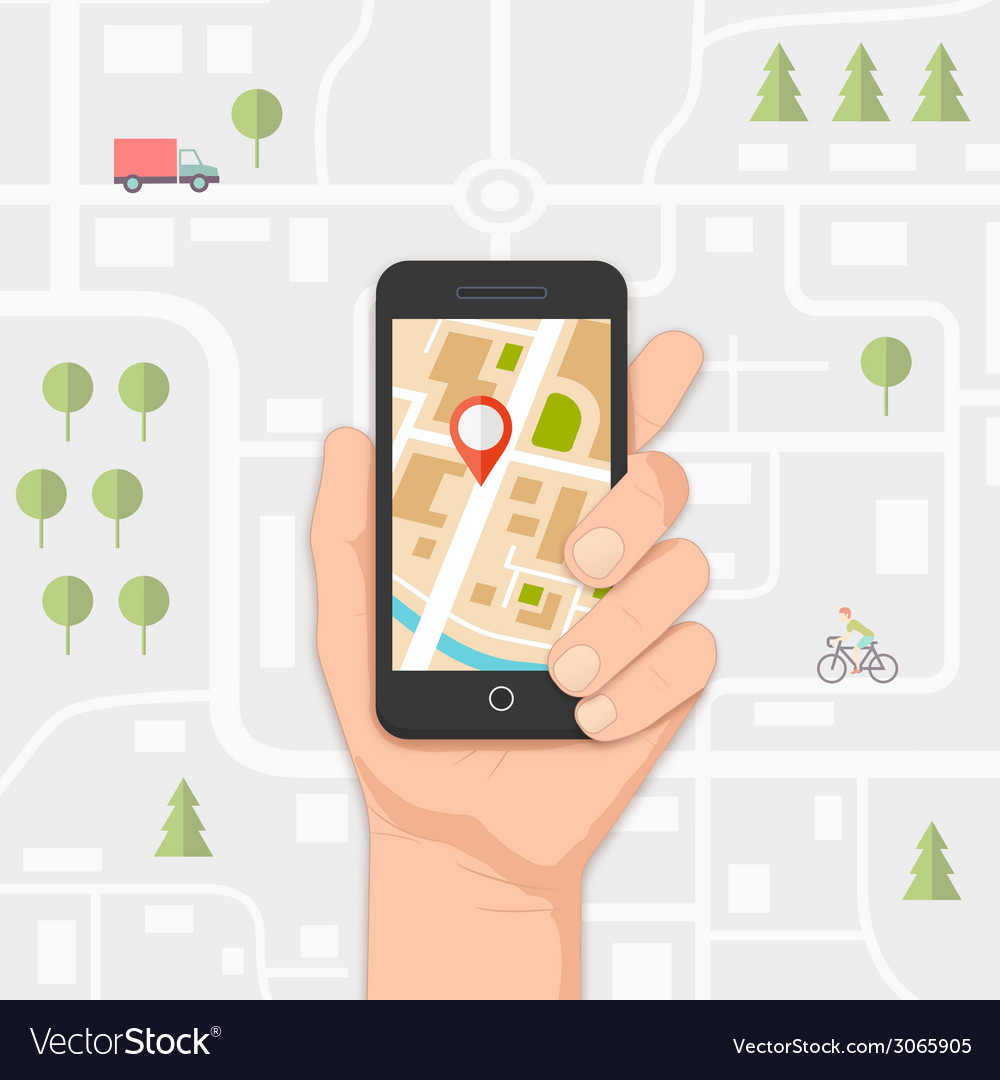 Mobile navigation vector | Price: 1 Credit (USD $1)