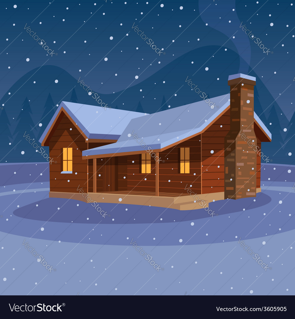 Mountain cabin vector | Price: 3 Credit (USD $3)