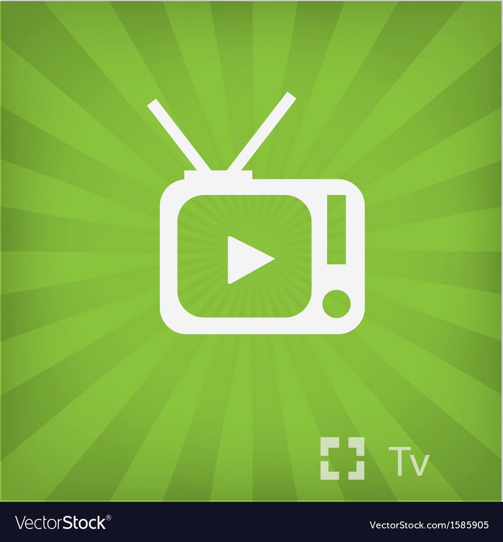 Tv icon in minimal style vector | Price: 1 Credit (USD $1)