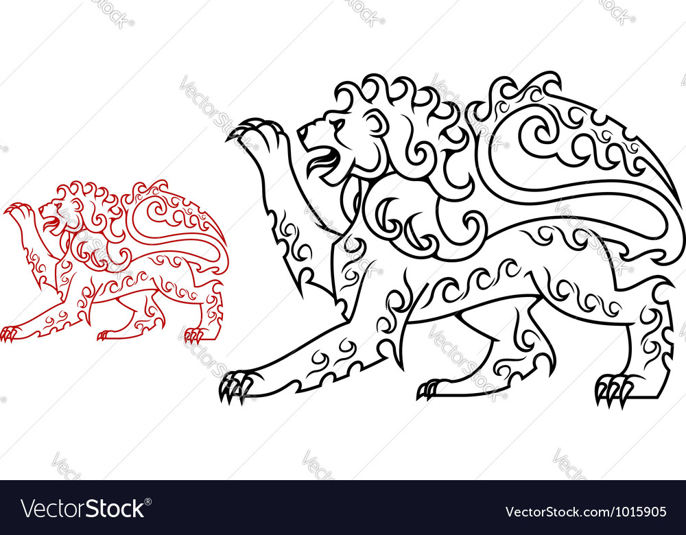 Vintage royal lion for heraldry or tattoo design vector | Price: 1 Credit (USD $1)