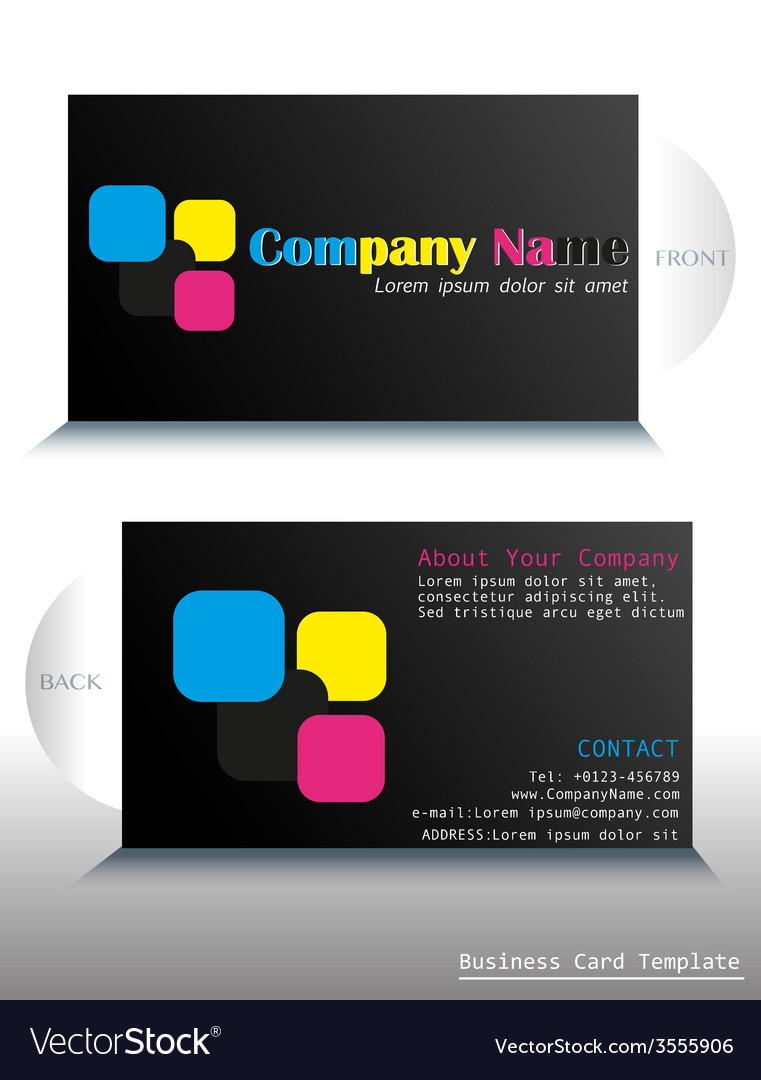 A card with a colorful fontstyle vector | Price: 1 Credit (USD $1)