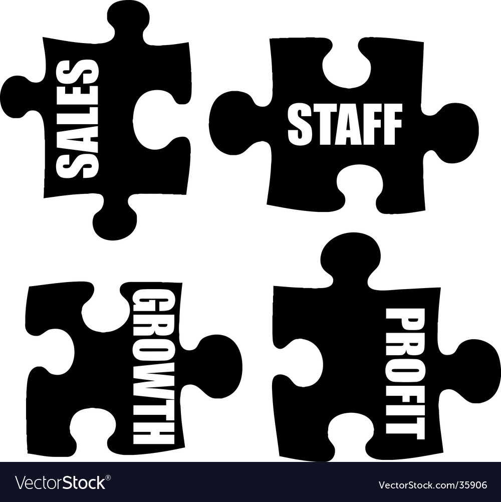 Business jigsaw vector | Price: 1 Credit (USD $1)