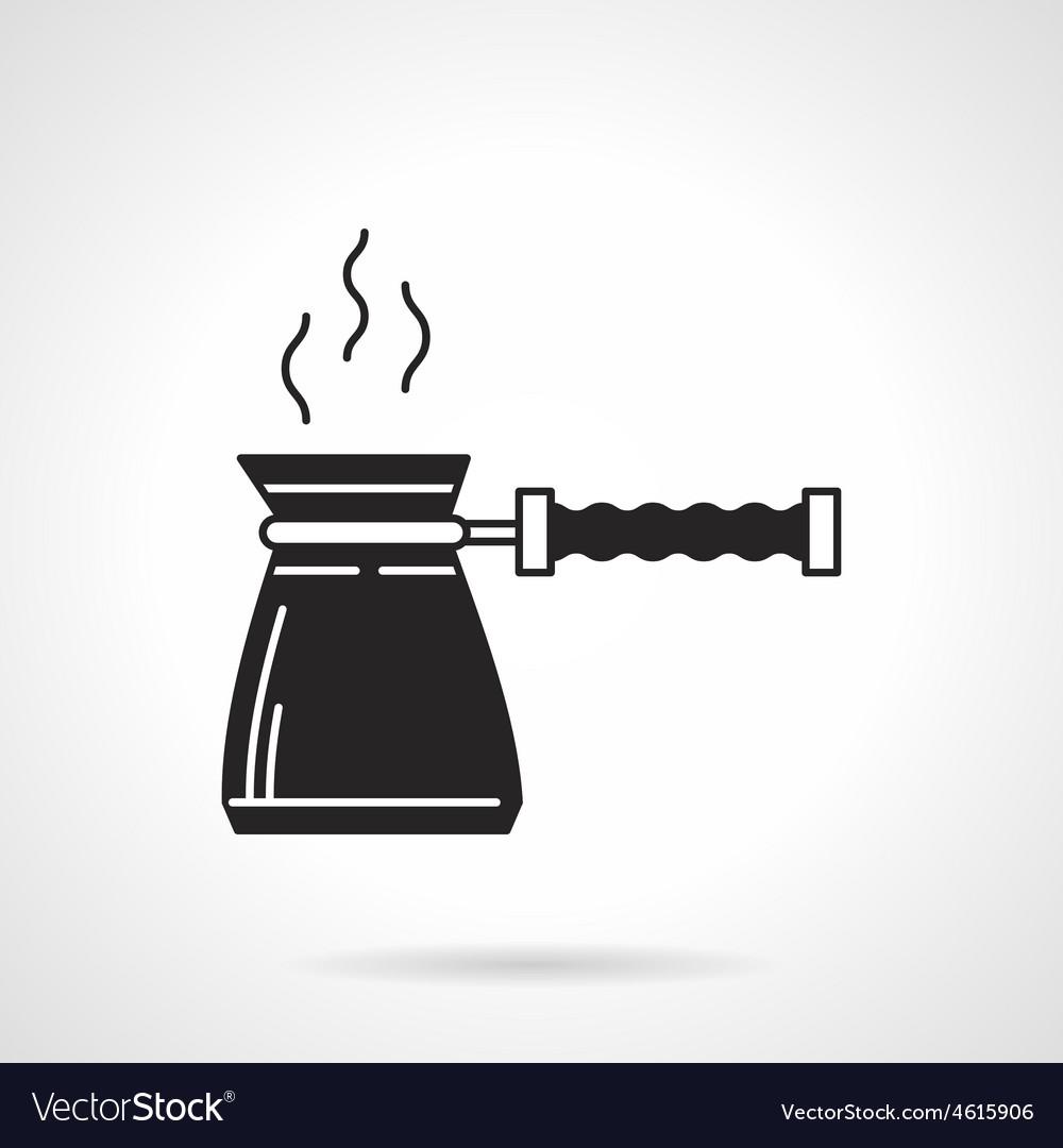 Coffee pot black icon vector | Price: 1 Credit (USD $1)