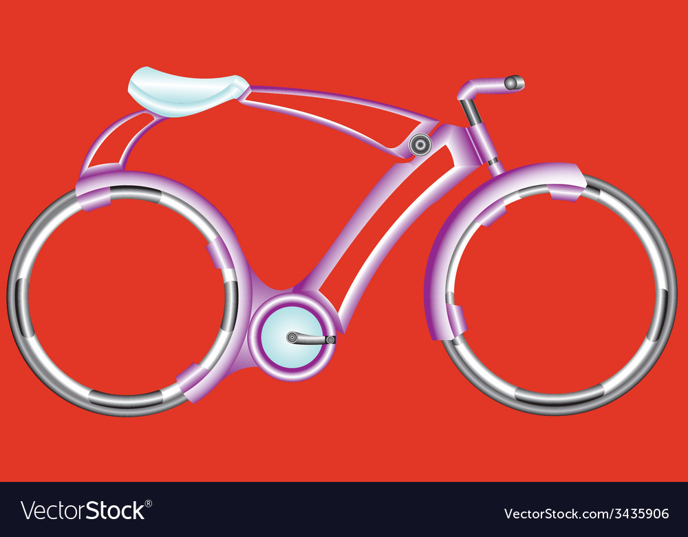 Futurist bicycle vector | Price: 1 Credit (USD $1)