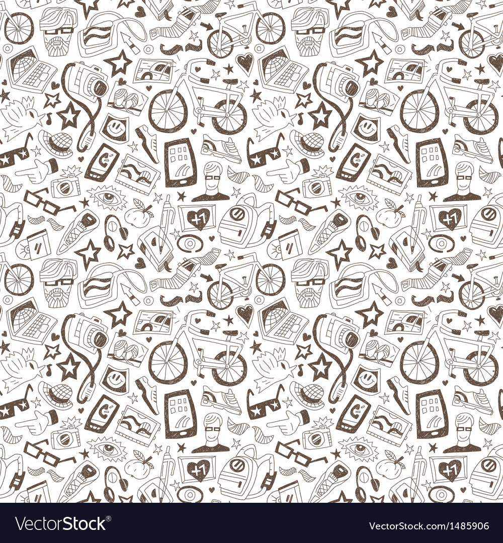 Hipsters - seamless backgrounds vector | Price: 1 Credit (USD $1)