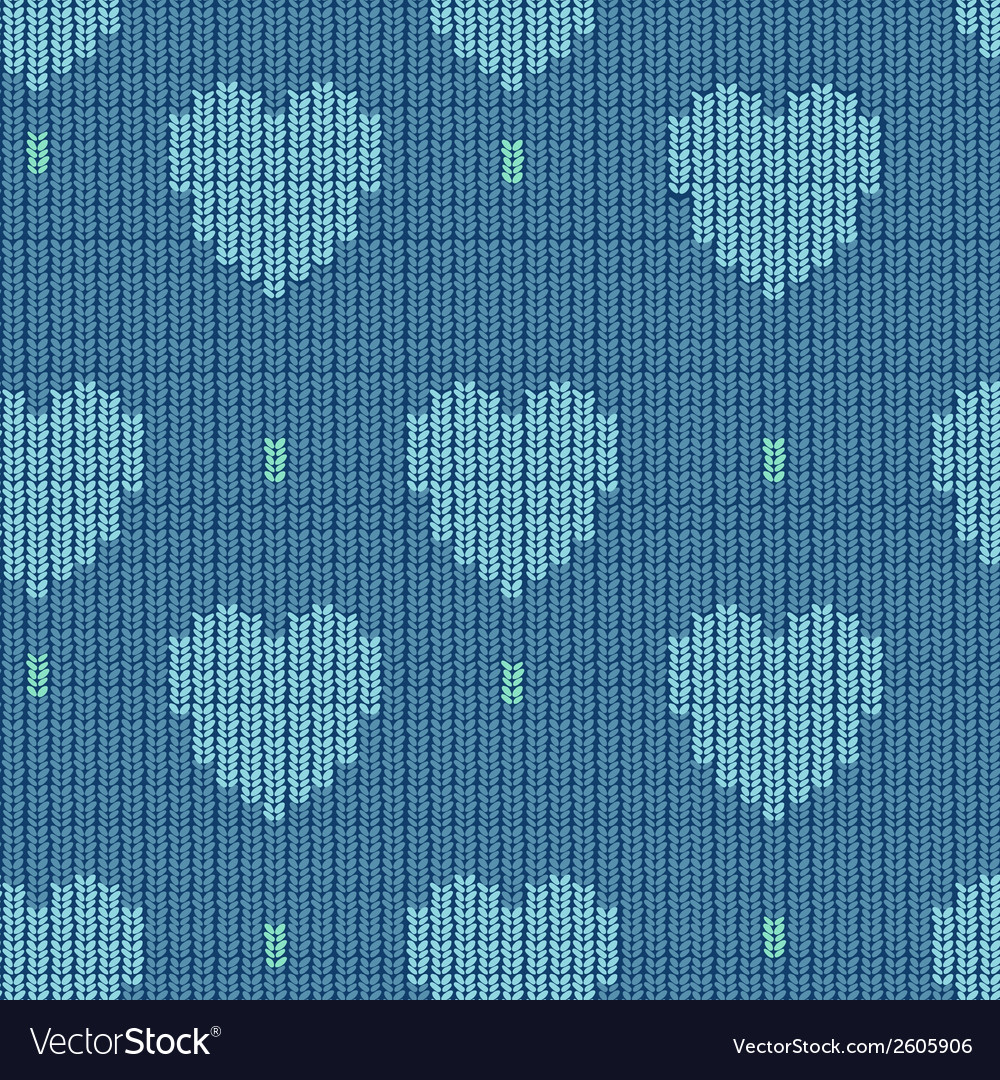 Knitted background with hearts vector | Price: 1 Credit (USD $1)