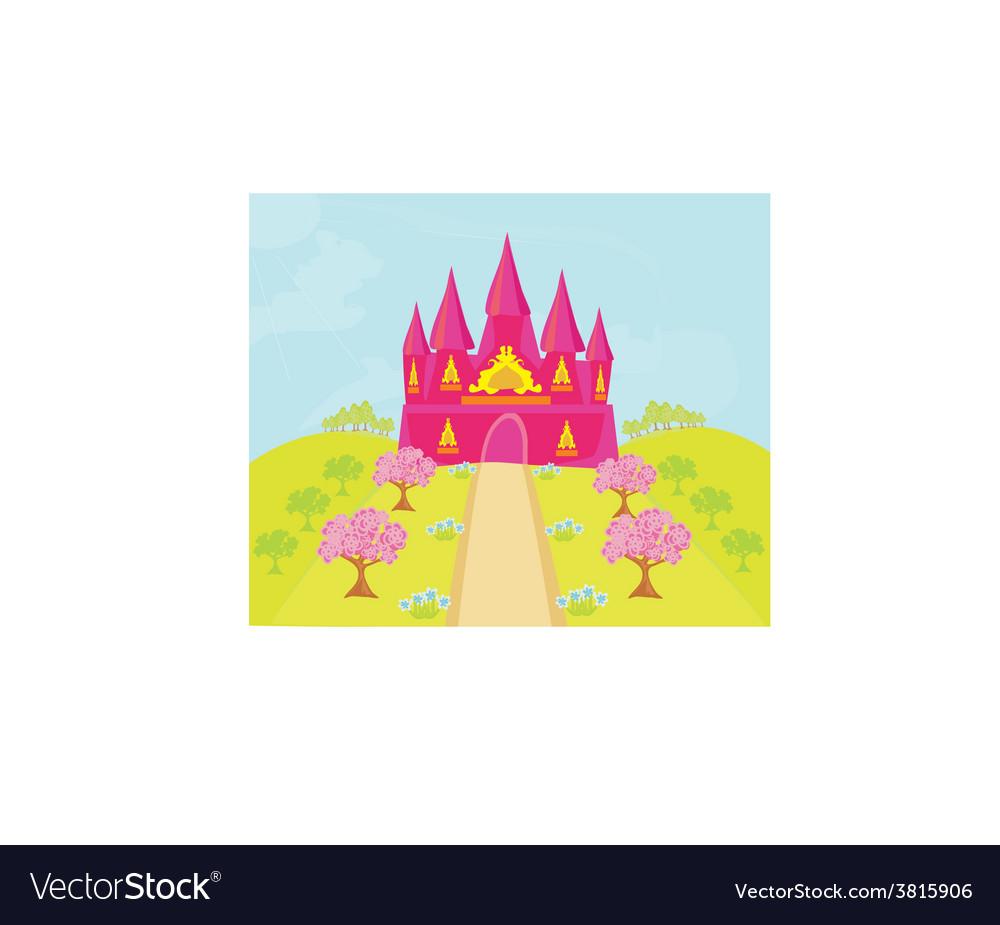 Magic fairy tale princess castle vector | Price: 1 Credit (USD $1)