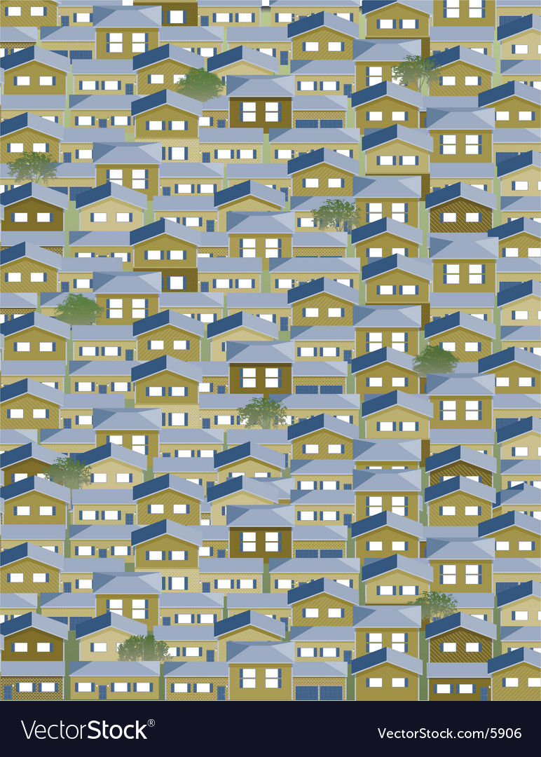 Many houses vector | Price: 3 Credit (USD $3)