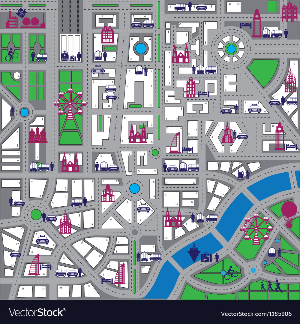 Map city vector | Price: 1 Credit (USD $1)