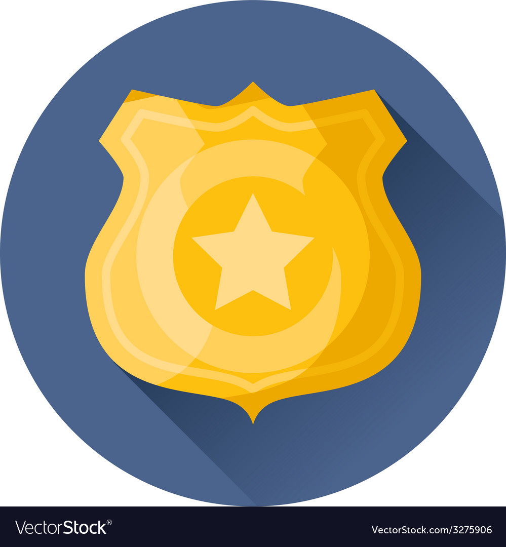 Police badge icon vector | Price: 1 Credit (USD $1)