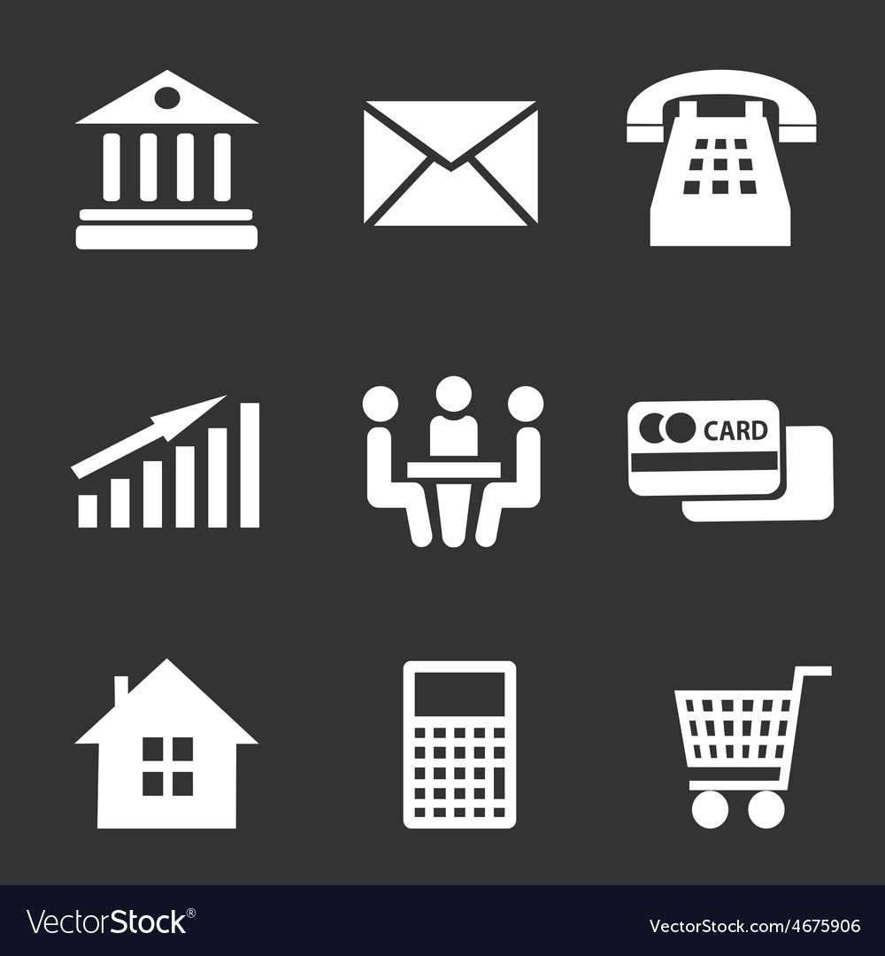 Set of business icons vector   Price: 1 Credit (USD $1)