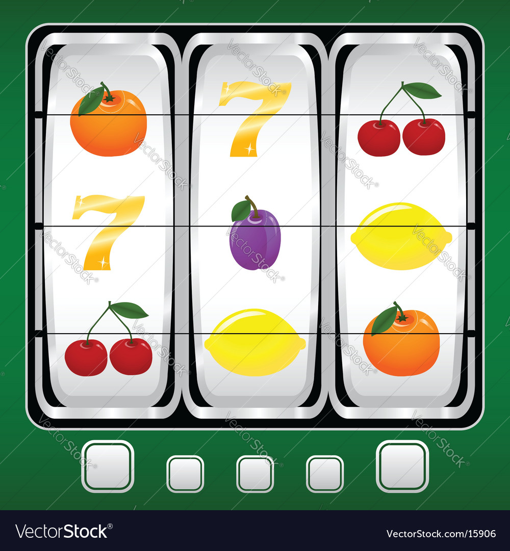 Slot machine vector | Price: 1 Credit (USD $1)