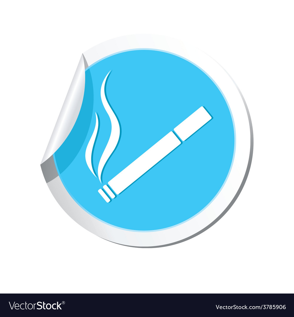 Smoking blue label vector | Price: 1 Credit (USD $1)