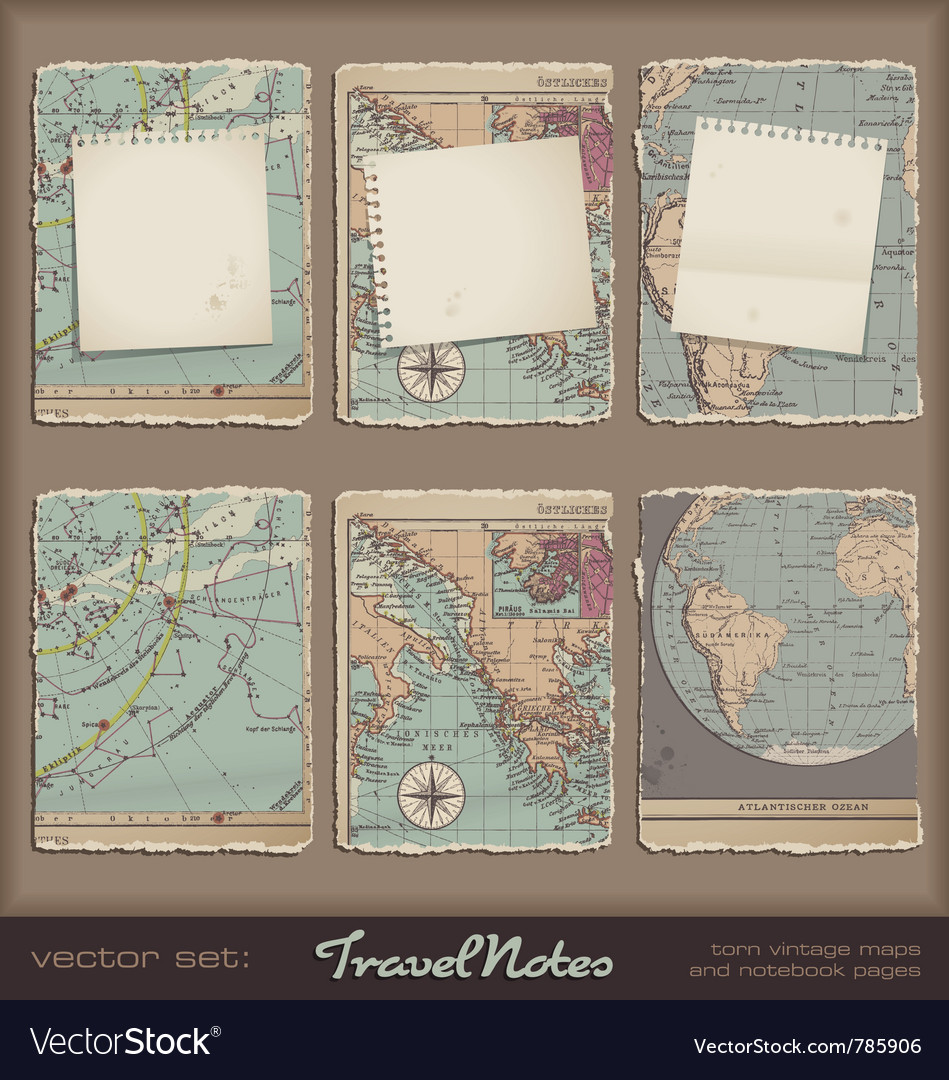 Travel notes vector | Price: 3 Credit (USD $3)