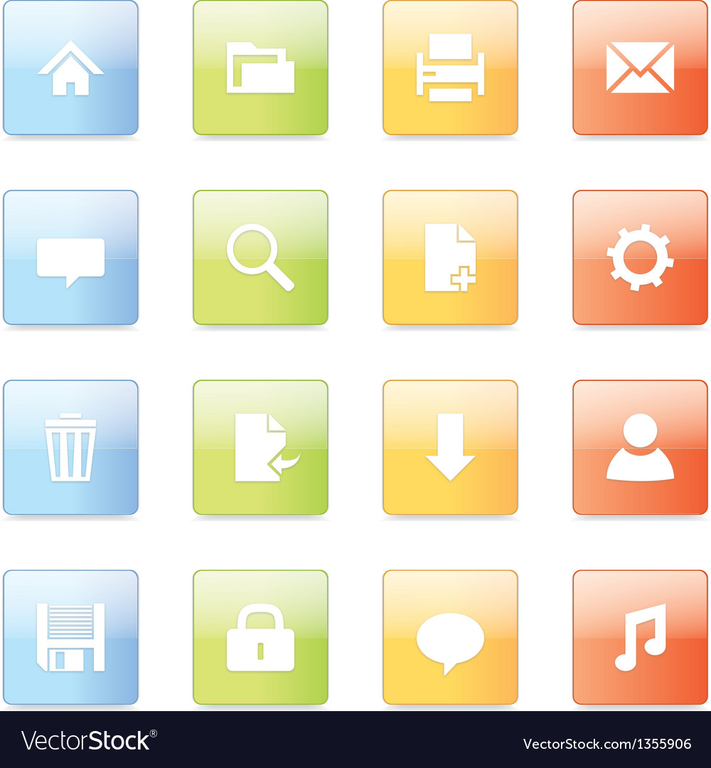 Web icons 5 vector
