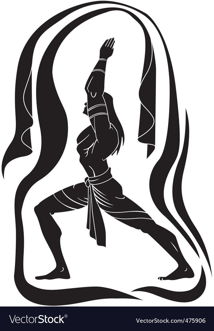 Yoga man vector | Price: 1 Credit (USD $1)