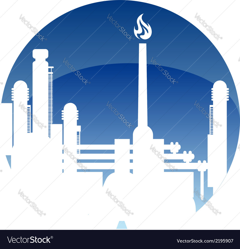 Industry and fuel refinery icon vector | Price: 1 Credit (USD $1)
