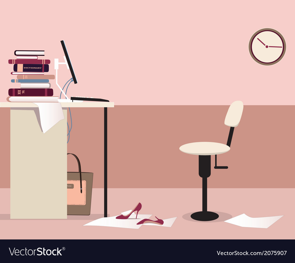 Office workplace vector | Price: 1 Credit (USD $1)