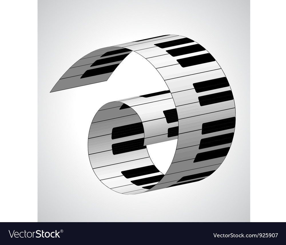 Piano keys vector | Price: 1 Credit (USD $1)