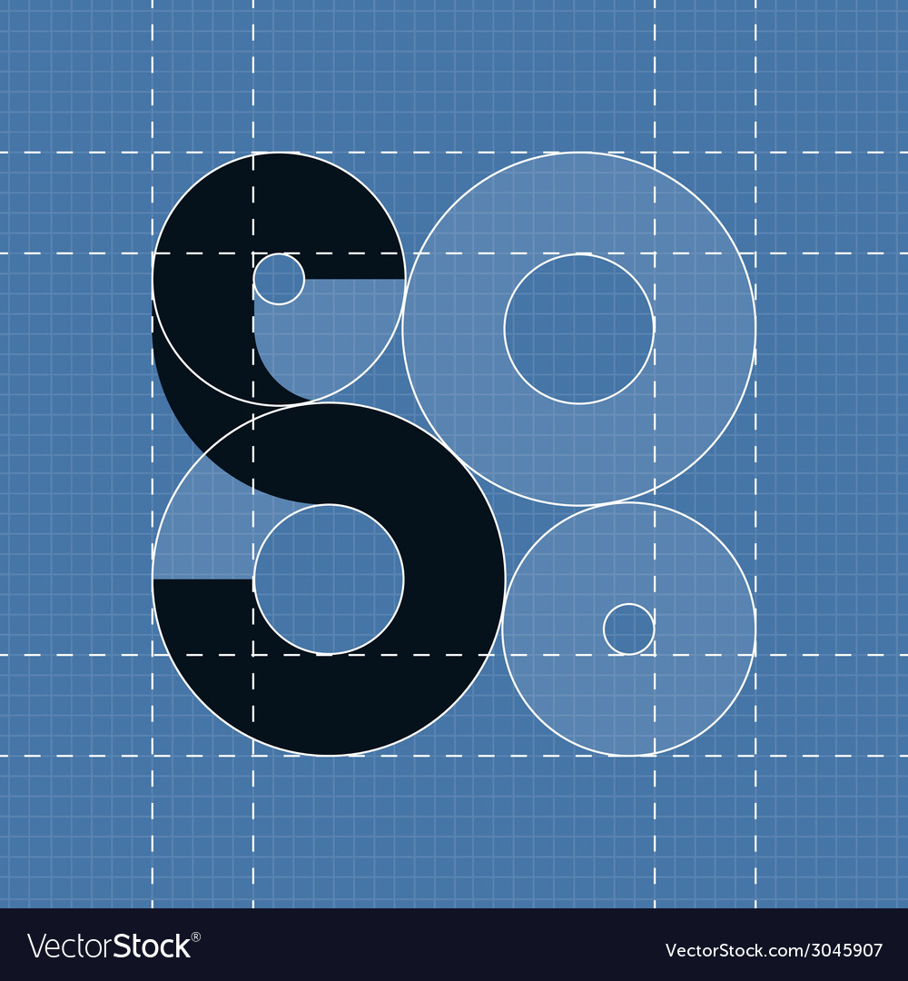 Round engineering font symbol s vector | Price: 1 Credit (USD $1)