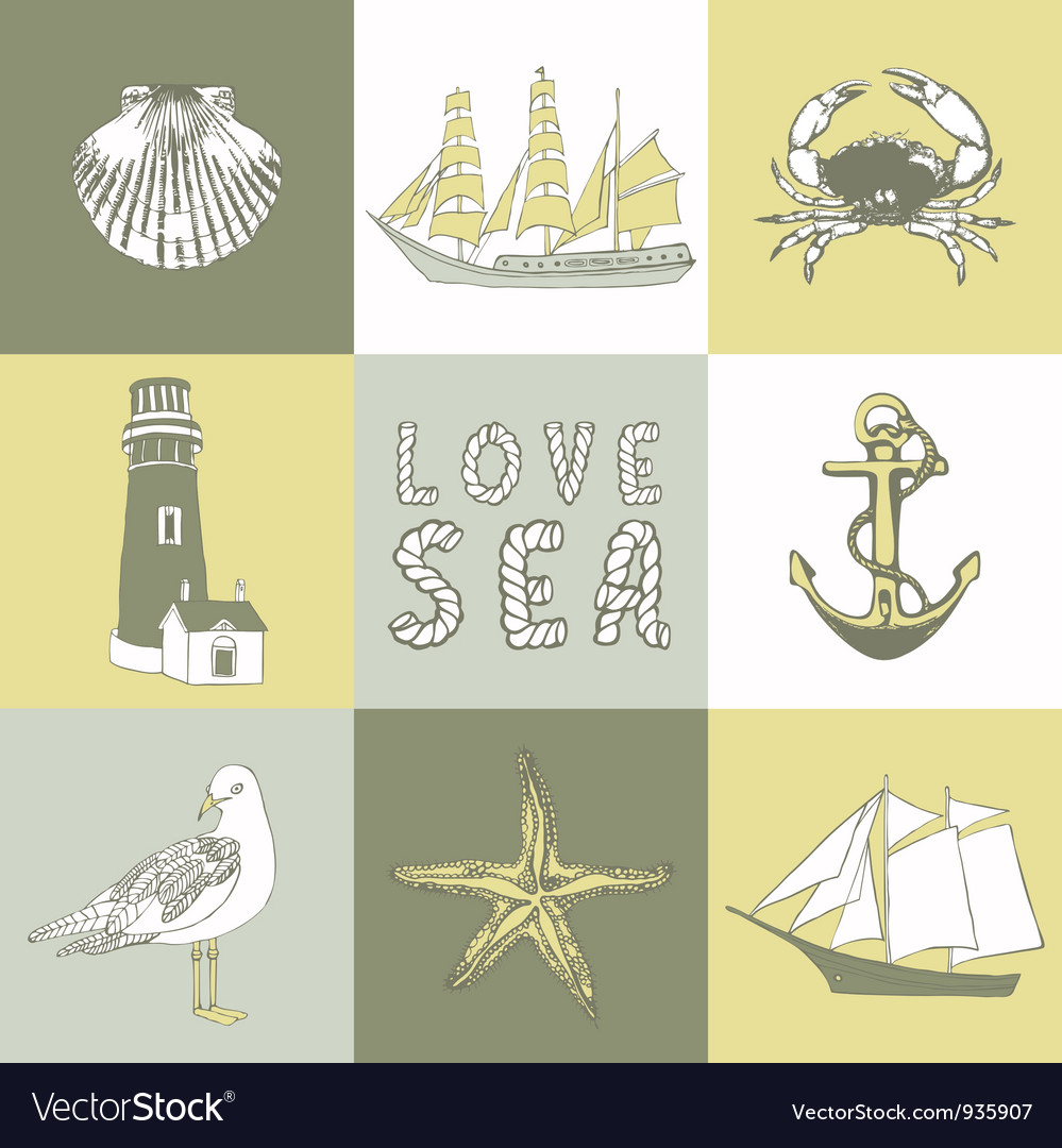 Sea coast background vector | Price: 1 Credit (USD $1)