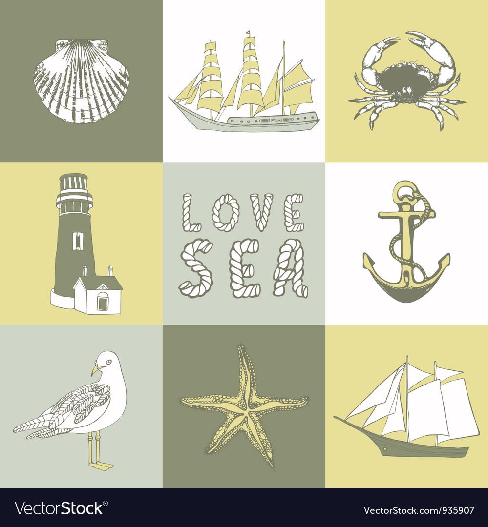 Sea coast background vector | Price: 1 Credit (USD $1)