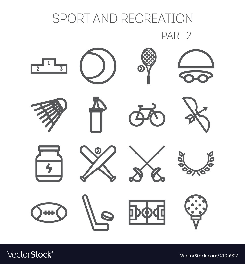 Set of simple icons for sport recreation web vector | Price: 1 Credit (USD $1)