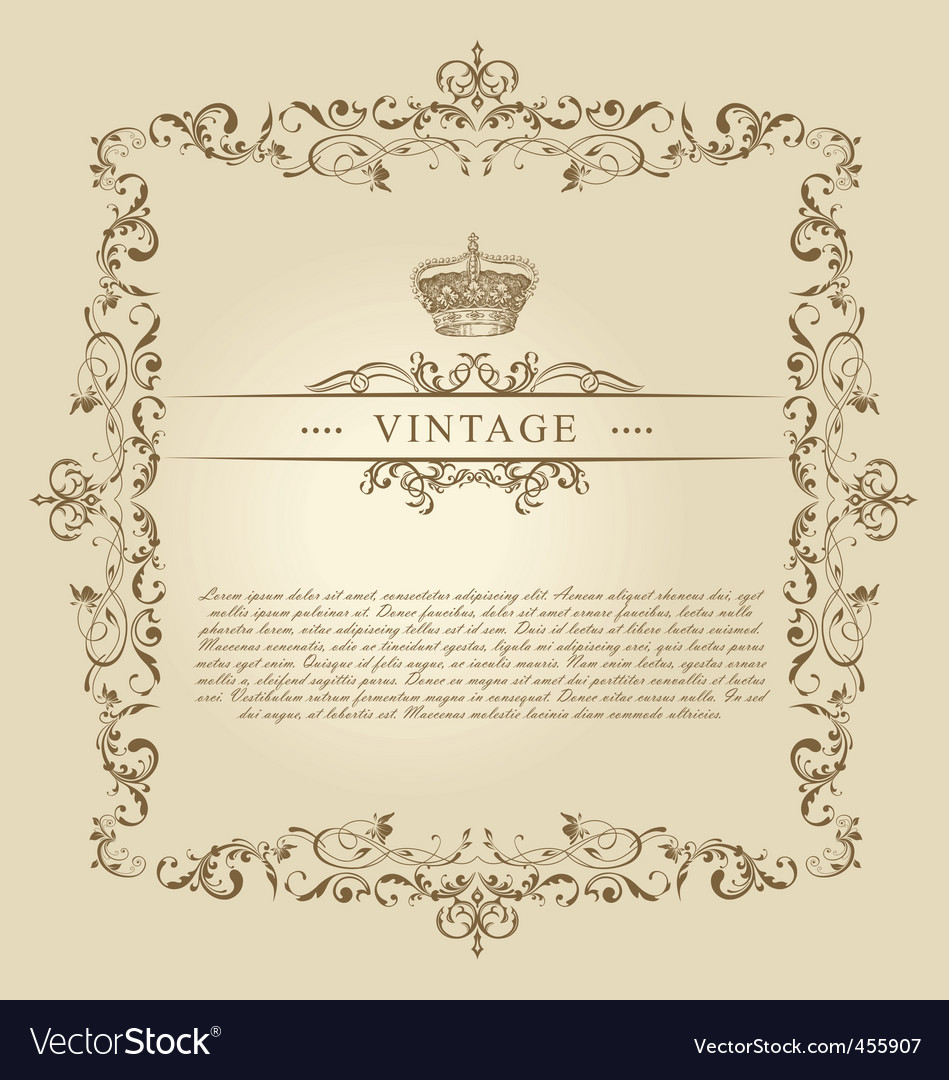 Vintage frame decor ornament vector | Price: 1 Credit (USD $1)