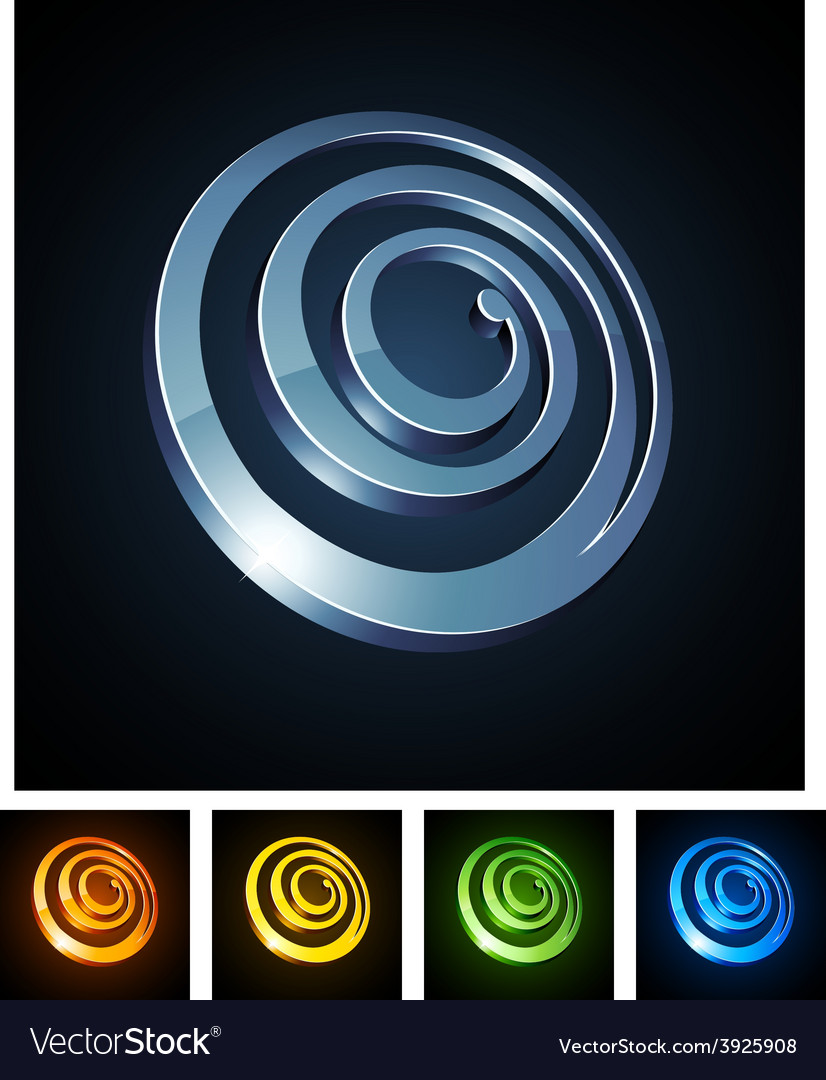 3d spiral emblems vector | Price: 1 Credit (USD $1)