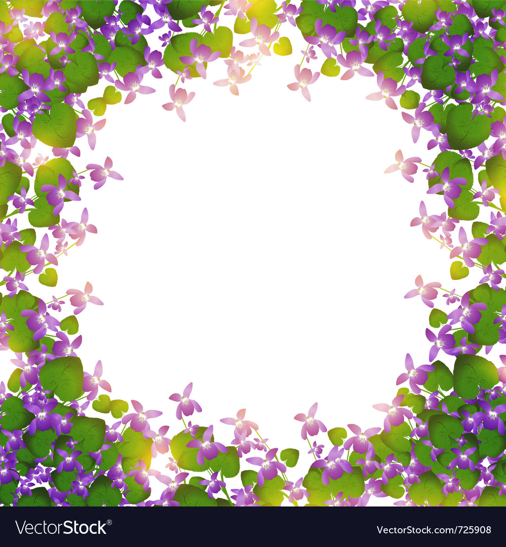Border of wild violet vector | Price: 1 Credit (USD $1)