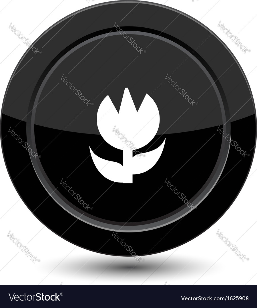 Button with flower vector | Price: 1 Credit (USD $1)