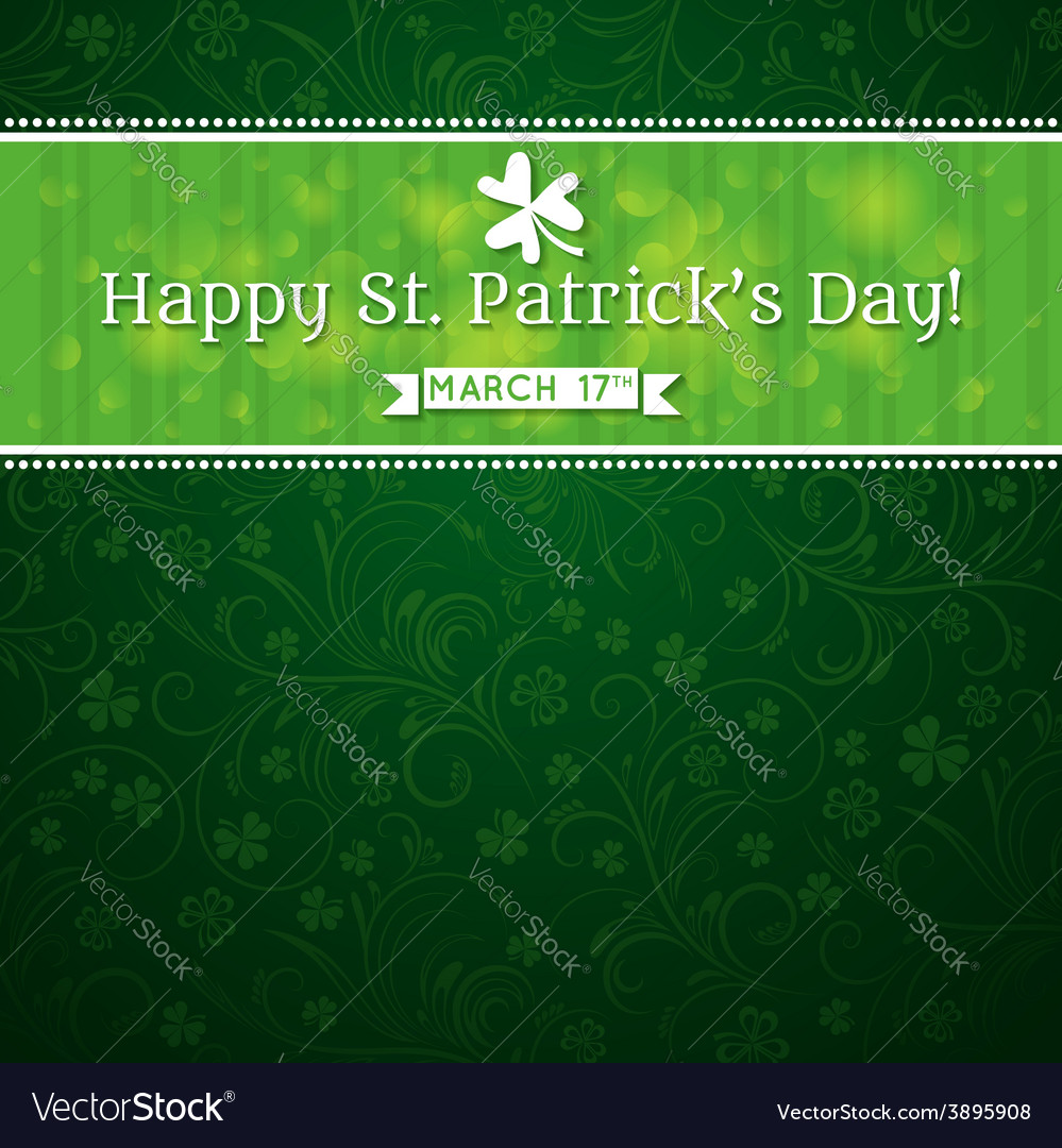 Card for st patricks day with text and many shamro vector   Price: 1 Credit (USD $1)