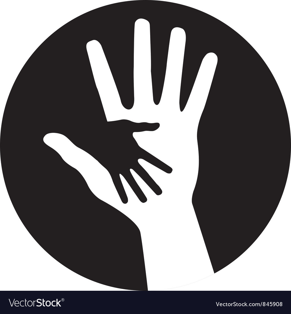 Caring hands icon vector | Price: 1 Credit (USD $1)
