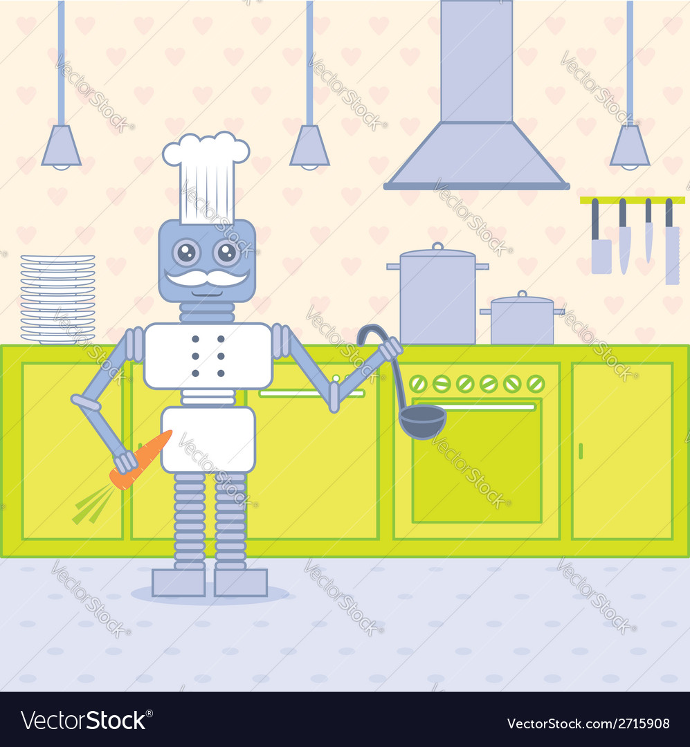 Cook in the kitchen vector | Price: 1 Credit (USD $1)