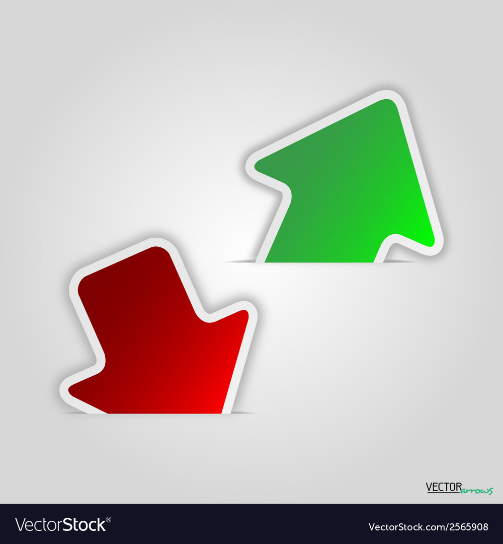 Green and red arrow vector | Price: 1 Credit (USD $1)