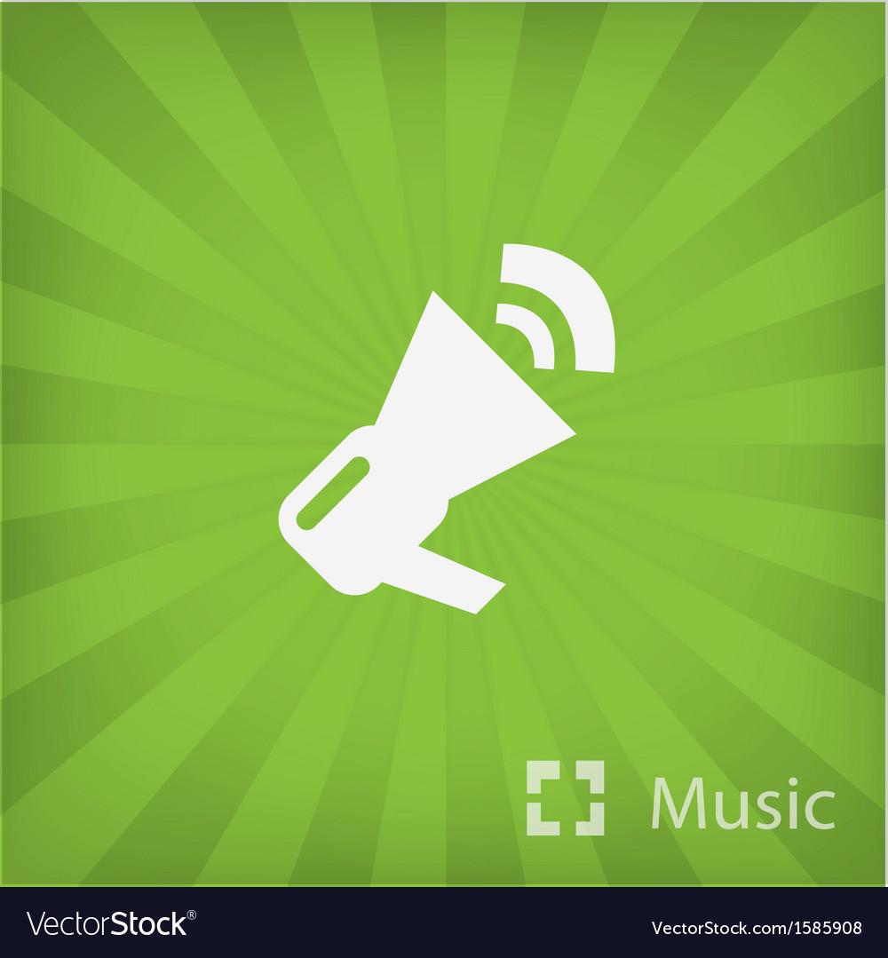 Megaphone icon in minimal style vector | Price: 1 Credit (USD $1)