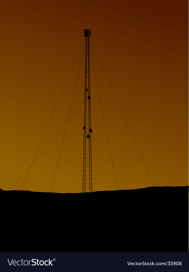 Phone mast vector | Price: 1 Credit (USD $1)