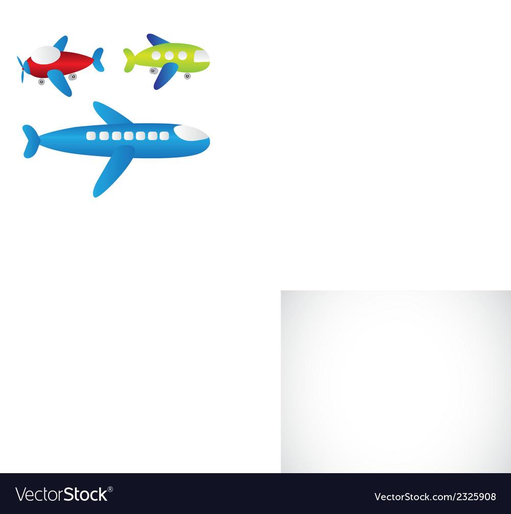 Set of cartoons of planes vector   Price: 1 Credit (USD $1)