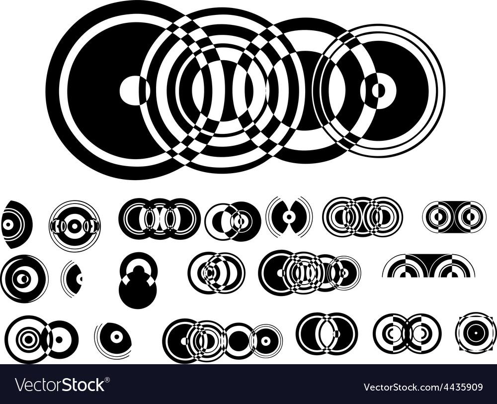 Adb circle elements 1 vector | Price: 1 Credit (USD $1)