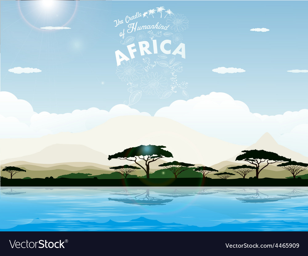 Africa - the cradle of humankind vector | Price: 3 Credit (USD $3)