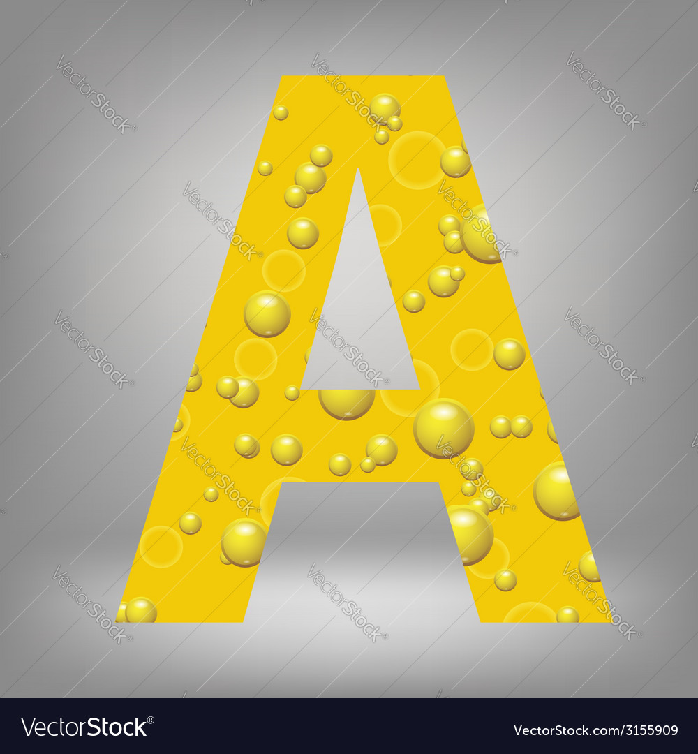 Beer letter a vector | Price: 1 Credit (USD $1)