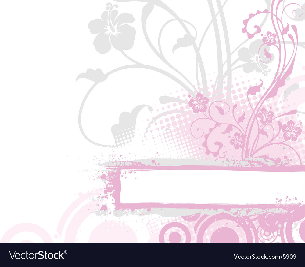 Floral background with banner vector | Price: 1 Credit (USD $1)