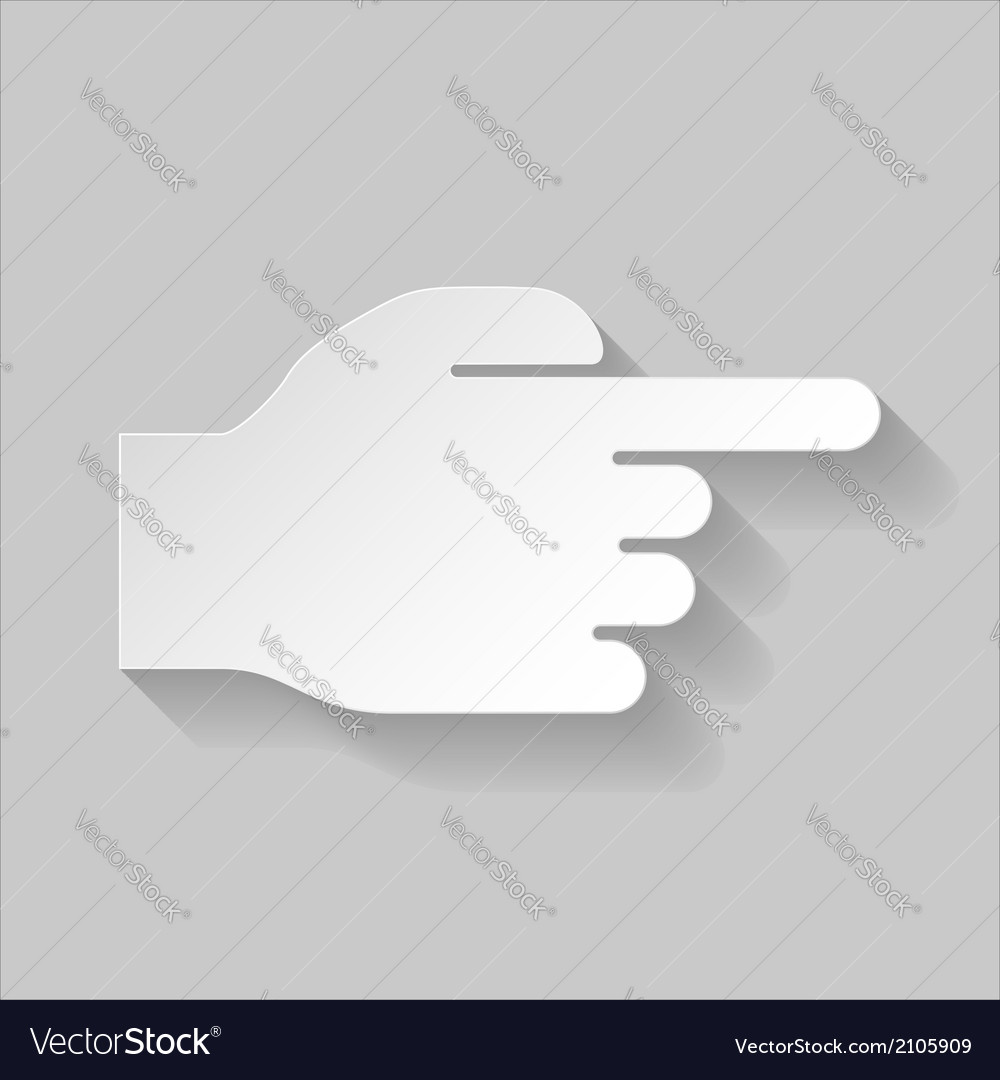 Hand pointing to the right vector | Price: 1 Credit (USD $1)