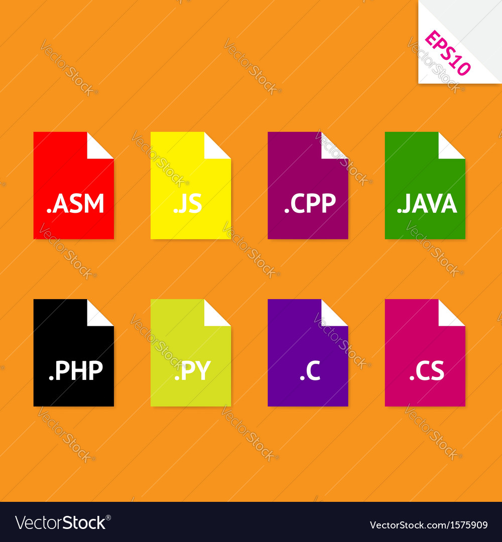 Source code file formats vector | Price: 1 Credit (USD $1)