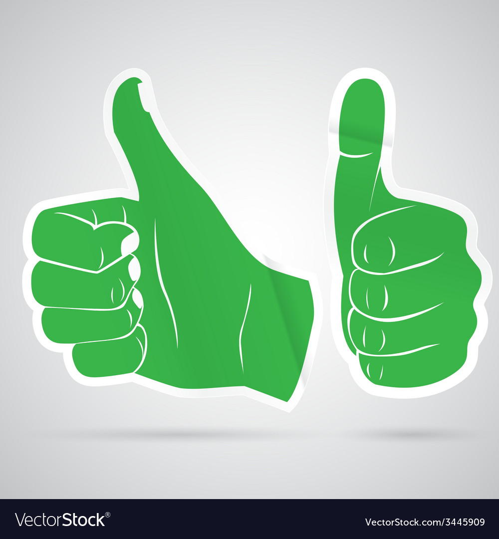 Thumbs up sticker vector