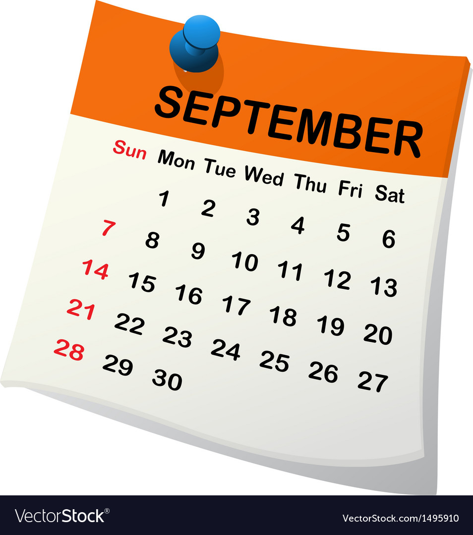 2014 calendar for september vector | Price: 1 Credit (USD $1)