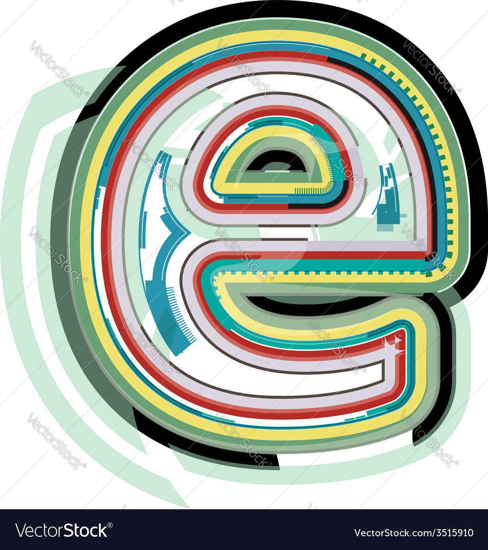 Abstract colorful letter e vector | Price: 1 Credit (USD $1)