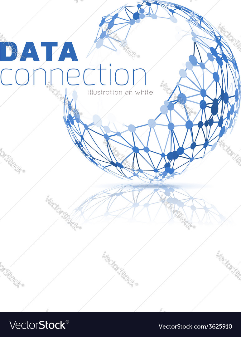 Abstract network connection background vector | Price: 1 Credit (USD $1)